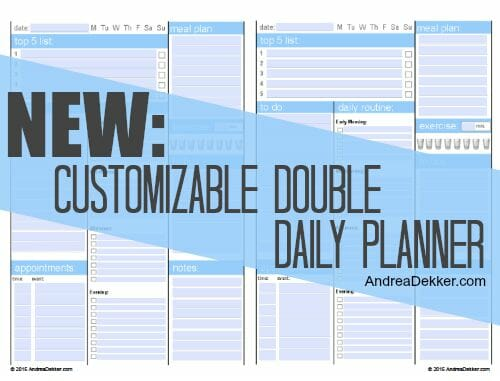 double daily planner