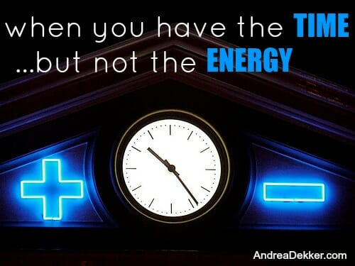 time versus energy