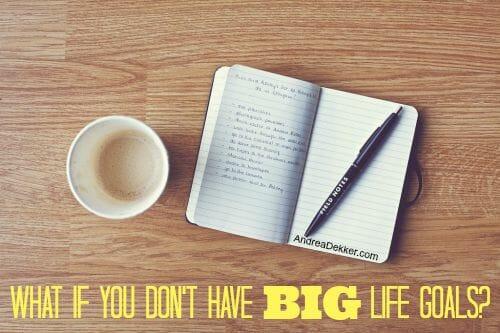 big life goals