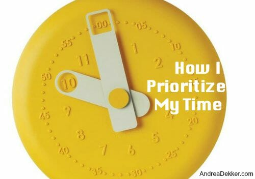 prioritize my time