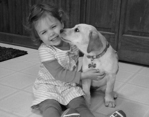 nora and a dog