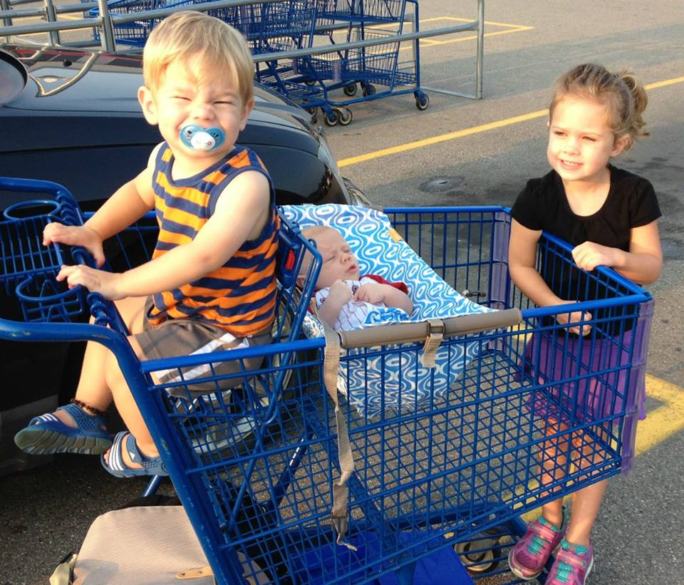 grocery shopping with 3!