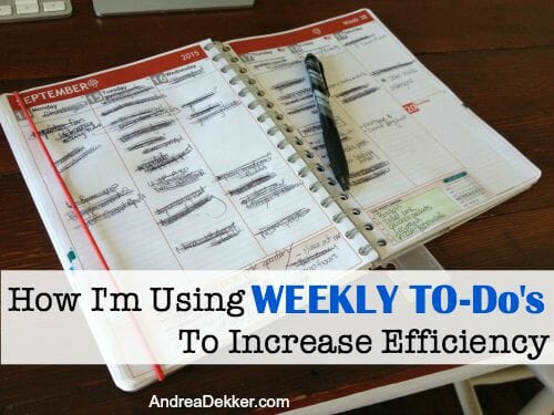 Weekly To-Do's