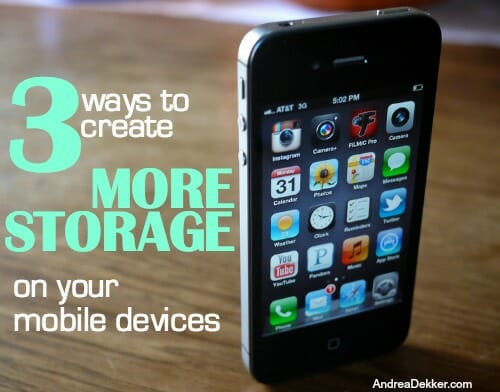 create more storage
