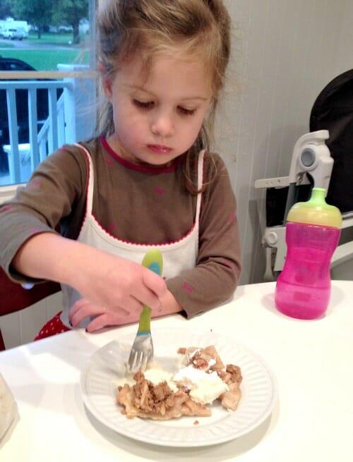nora eating pie