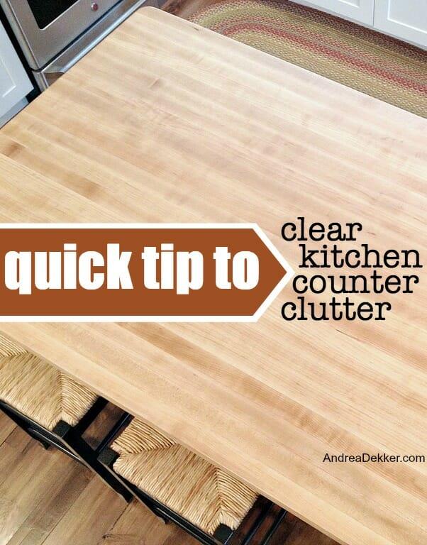 kitchen counter clutter