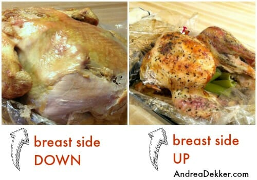 how to roast a juicy turkey breast side down