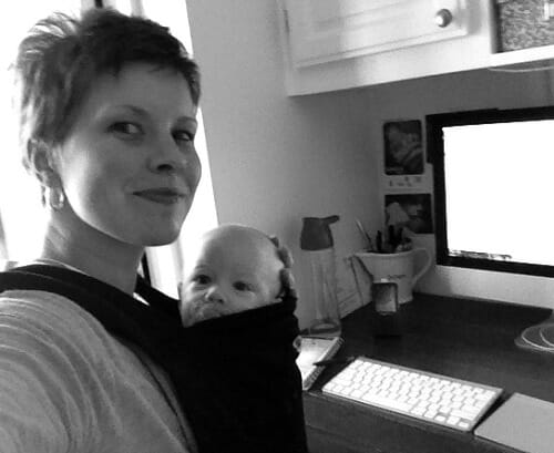 working with a baby