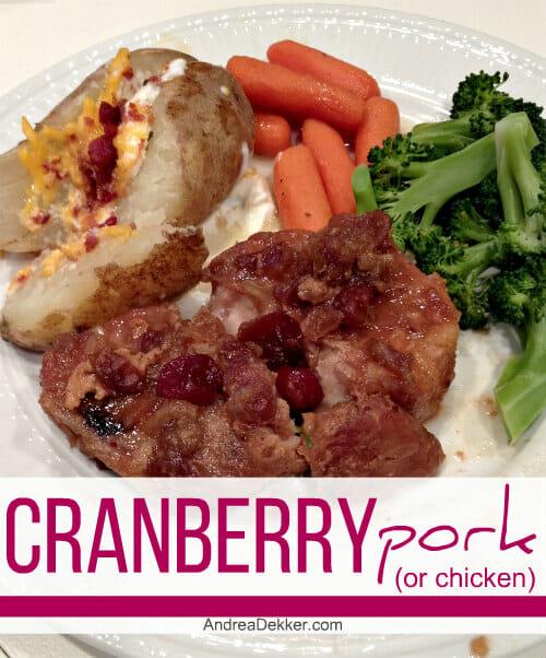 cranberry pork