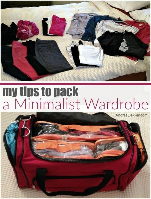 minimalist travel wardrobe