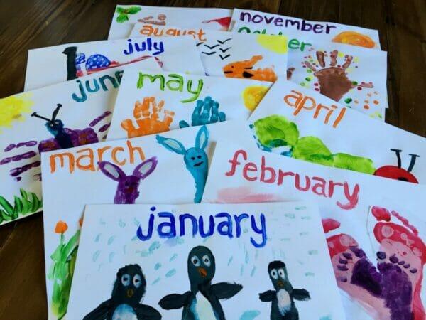 Calendar Kids Craft : Our handprint and footprint calendar andrea dekker