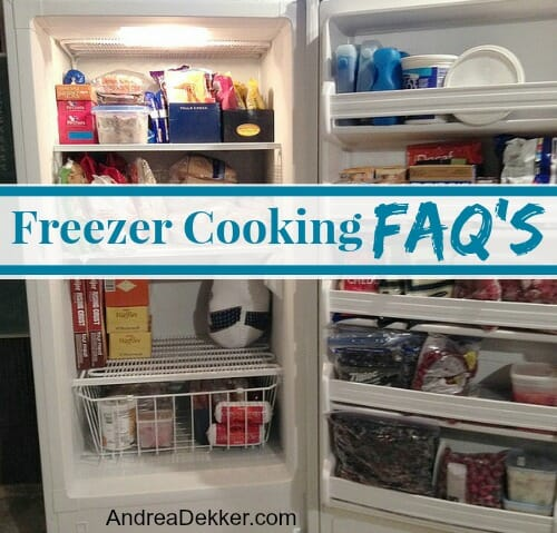 freezer cooking faq's