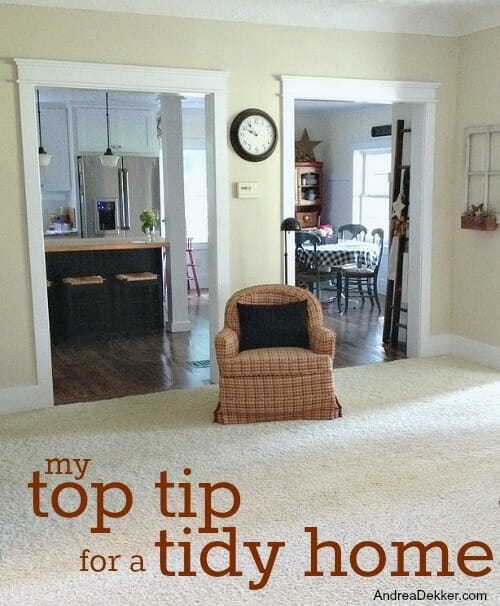 top tip for a tidy home