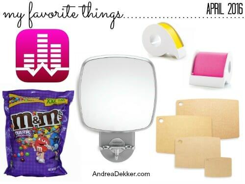 favorite things april