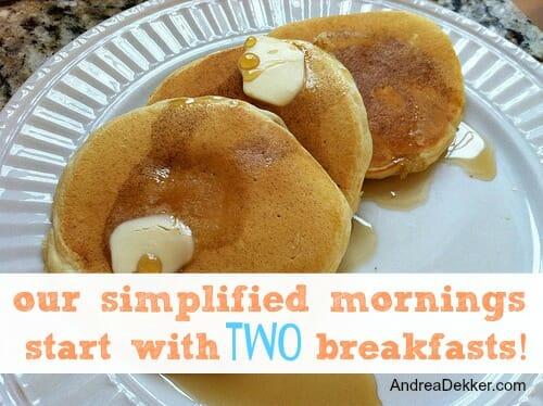 two breakfasts