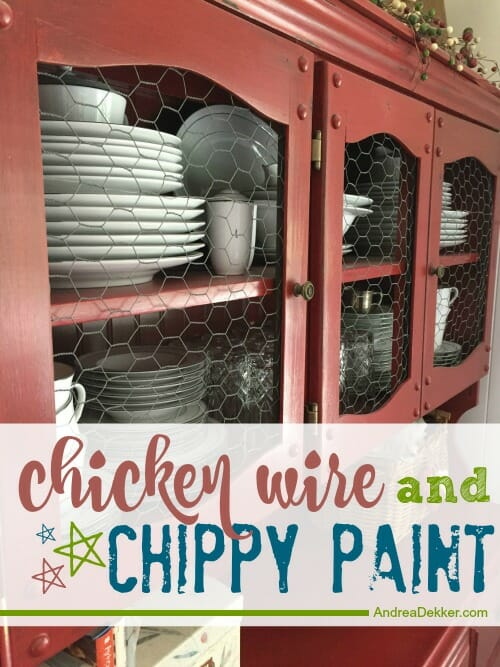 chicken wire and chippy paint