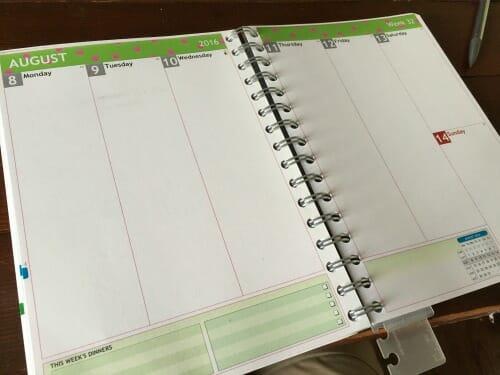 empty planner