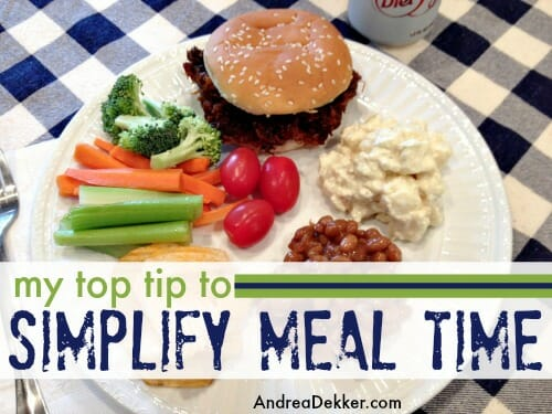 simplify meal time