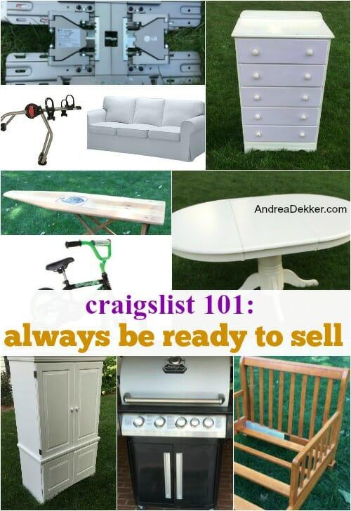 craigslist 101 selling