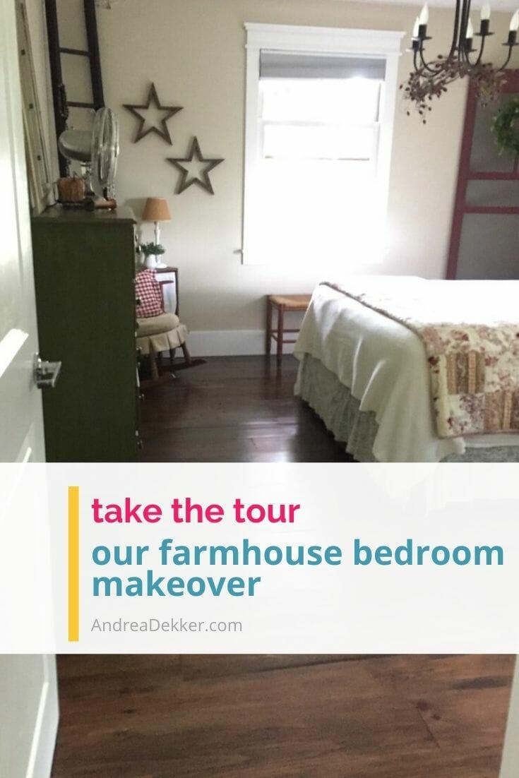 farmhouse master bedroom makeover via @andreadekker