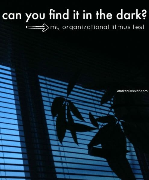 find it in the dark