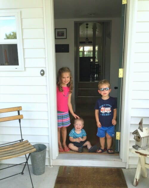 kids by the mudroom
