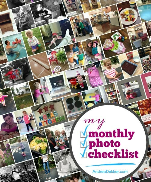 monthly photo checklist
