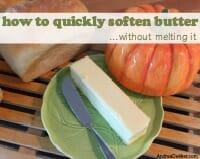 soften butter thumb