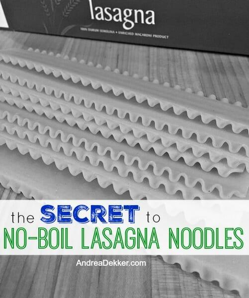 no-boil lasagna