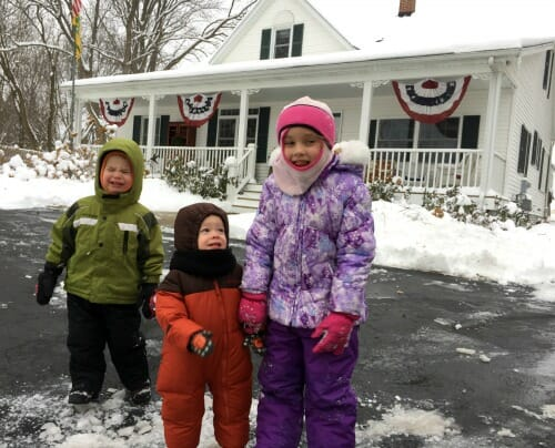 crazy kids in the snow