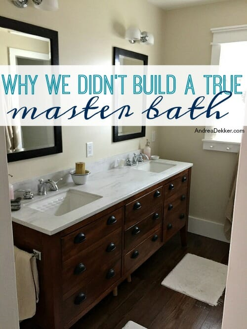 ... Various Home Renovations, I Have Been Asked SO Many Questions About  Dave And My Bathroom, And (more Specifically) Why We Didnu0027t Re Work Our  Plans To ...