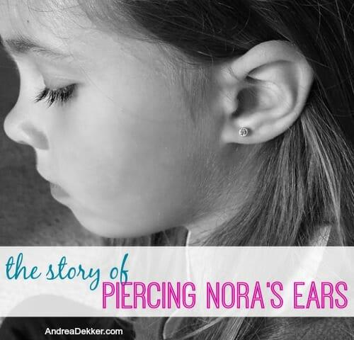 The Story Of Piercing Nora S Ears Andrea Dekker