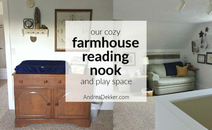 reading nook and play space