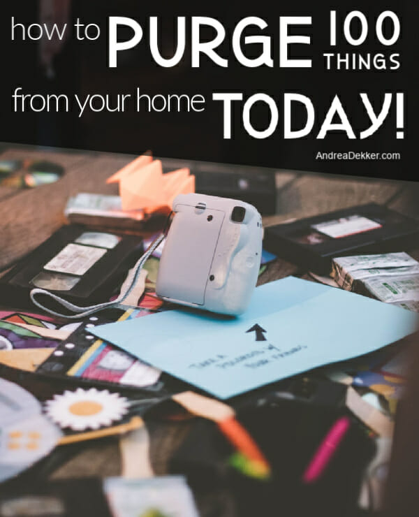 how to purge 100 things from your home