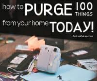 how to purge 100 things thumb