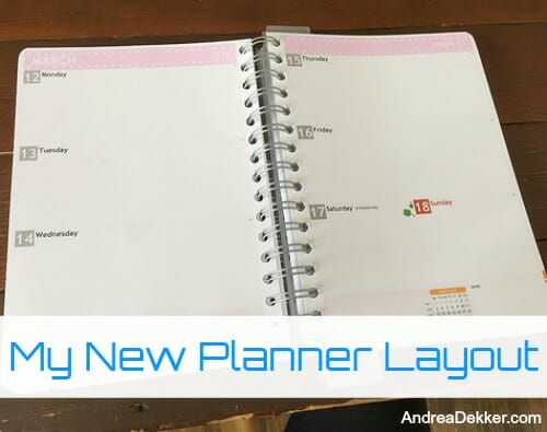 my new planner layout andrea dekker