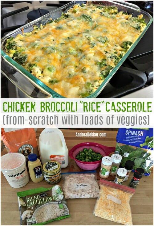 Simple Chicken Broccoli Rice Casserole