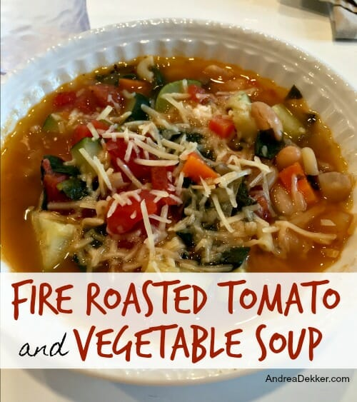 Roasted Tomato And Vegetable Soup Recipe: Fire Roasted Tomato And Vegetable Soup