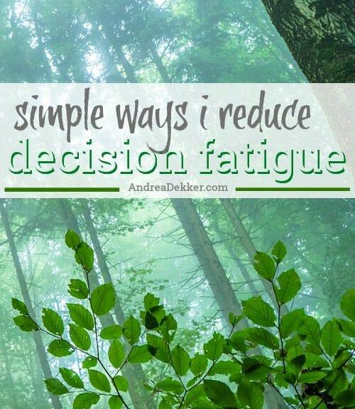 decisions fatigue