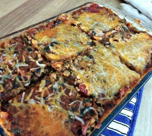 easy homemade lasagna with lots of veggies