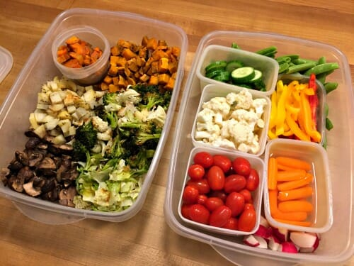 healthier habit of eating more raw and roasted vegetables