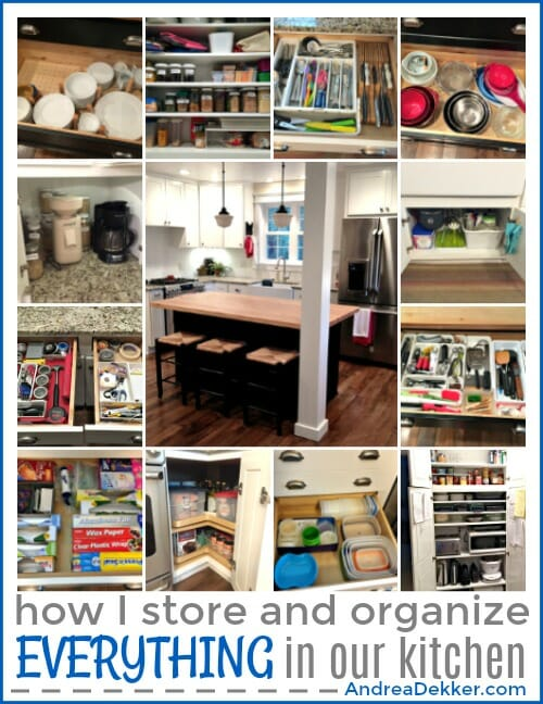 How I Store and Organize Everything In Our Kitchen | Andrea ...