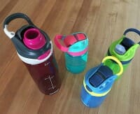 adult and child water bottles