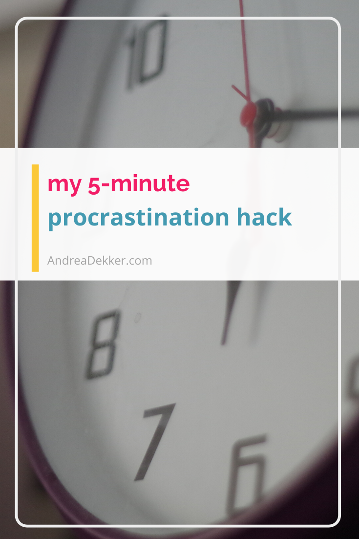 5 minute procrastination hack via @andreadekker