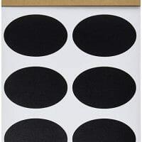 Oval Chalkboard Labels