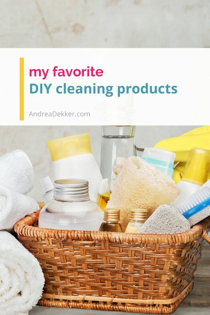 More than 10 tried-and-true recipes for simple DIY cleaning products you can make at home in minutes! Save time, save money, simplify your cleaning routine! via @andreadekker