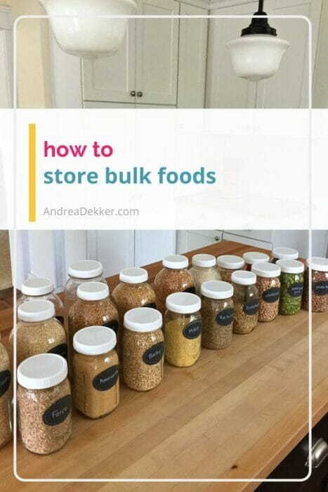 how to store bulk foods and grains