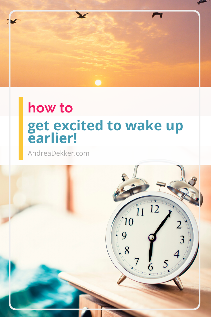 how to wake up earlier via @andreadekker