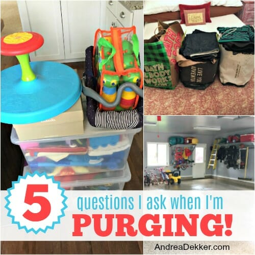 5 questions to ask when purging