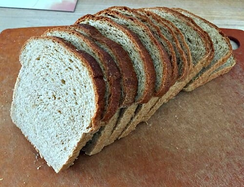 slices of whole grain bread